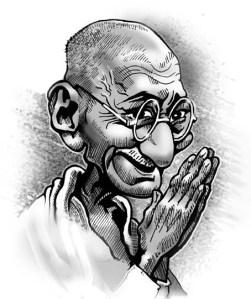 Gandhi, o romeiro